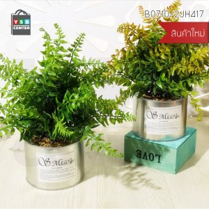ต้นไม้ปลอมแต่งบ้านพลาสติก ดอกไม้ประดิษฐ์ (เซ็ต 2 ชิ้น) รุ่น B0710-2JH417