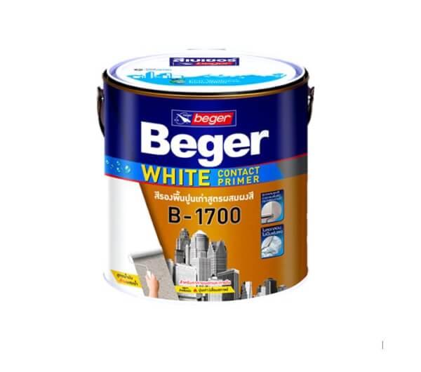 Beger White สีรองพื้นปูนเก่า สูตรน้ำมัน สีขาว B-1700