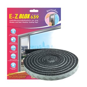 E-Z BLOX 639 เทปกันเสียงรบกวนสำหรับหน้าต่างและประตู รุ่นบานเลื่อน