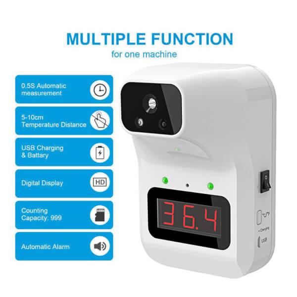K3 Plus Thermometer เครื่องวัดอุณหภูมิอินฟราเรดอัตโนมัติ ไร้สัมผัส