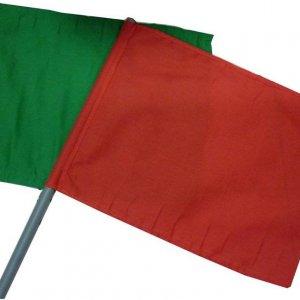 ธงโบกให้สัญญาณ ธงโบกสีแดงหรือสีเขียว