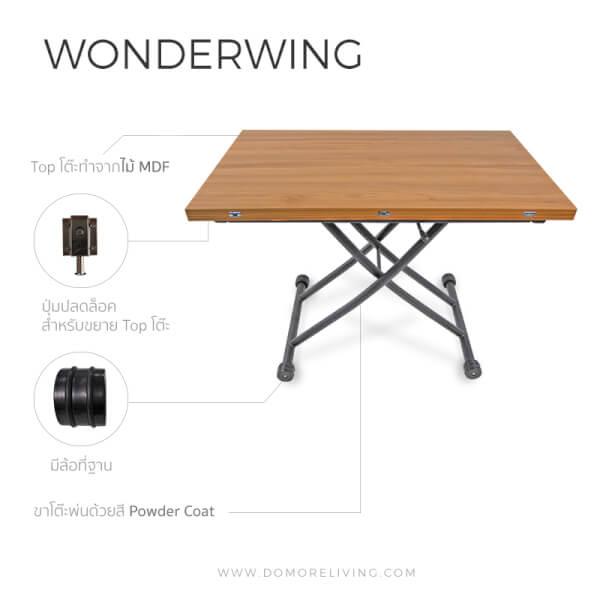 โต๊ะพับ รุ่น Wonderwing