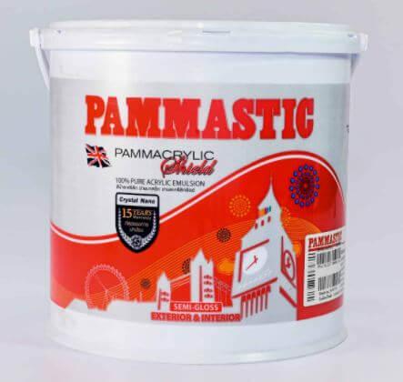 Pammastic ปามอะคริลิกชิลด์ ชนิดกึ่งเงา เบสA (ขนาด 3ลิตร) สีเกรดสูง 15ปี