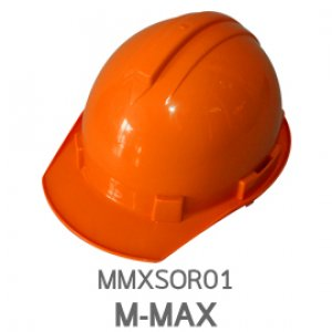 หมวกนิรภัย ABS ยี่ห้อ M-MAX สีส้ม