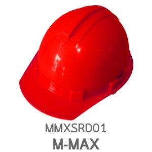หมวกนิรภัย ABS ยี่ห้อ M-MAX สีแดง