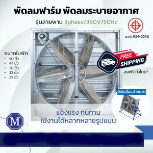 พัดลมอุตสาหกรรมโครงเหล็ก รุ่นขับสายพาน 3 Ph/380V/50Hz