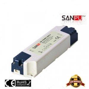 หม้อแปลง 12V สวิทชิ่ง เปลือกพลาสติก Sanpu 3A 35W
