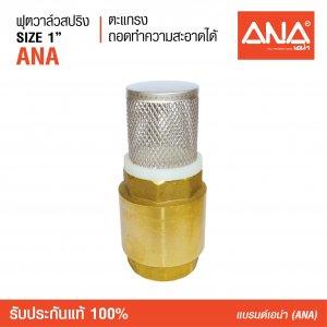 ANA เอน่า ฟุตวาล์วสปริง ANA (รุ่นถอดได้) หล่อขึ้นรูปด้วยทองเหลือง สปริงทำด้วยแสตนเลส 304