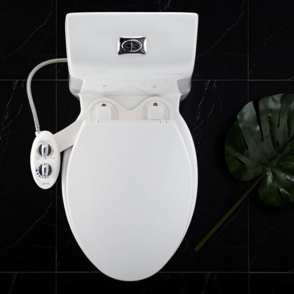 ที่ฉีดชำระ อัตโนมัติ ไม่ใช้ไฟฟ้า ลักซ์ บิเด รุ่น Neo 185 สีขาว ที่ฉีดก้น ติดสุขภัณฑ์ จากอเมริกา By Luxe Bidet