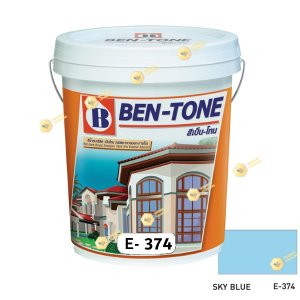 เบนโทน เบเยอร์ Sky Blue E-374 สีน้ำอะคริลิกภายนอก-ใน