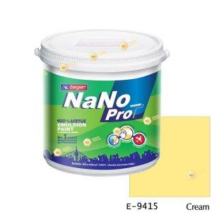 นาโนโปร สีน้ำอะคริลิก E-9415 สีน้ำด้านภายนอก-1gl
