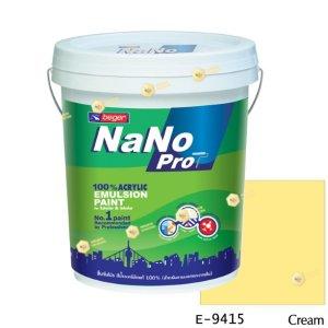 นาโนโปร สีน้ำอะคริลิก E-9415 สีน้ำด้านภายนอก-5gl