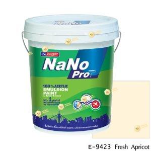 นาโนโปร สีน้ำอะคริลิก E-9423 สีน้ำด้านภายนอก-5gl