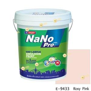 นาโนโปร สีน้ำอะคริลิก E-9433 สีน้ำด้านภายนอก-5gl