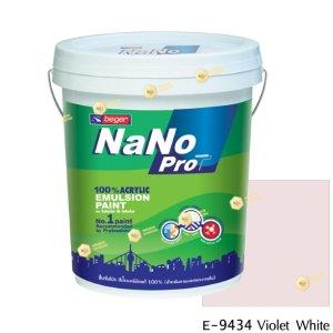 นาโนโปร สีน้ำอะคริลิก E-9434 สีน้ำด้านภายนอก-5gl