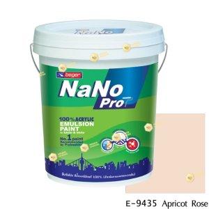 นาโนโปร สีน้ำอะคริลิก E-9435 สีน้ำด้านภายนอก-5gl