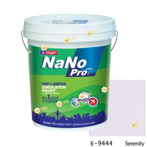 นาโนโปร สีน้ำอะคริลิก E-9444 สีน้ำด้านภายนอก-5gl