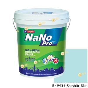 นาโนโปร สีน้ำอะคริลิก E-9453 สีน้ำด้านภายนอก-5gl