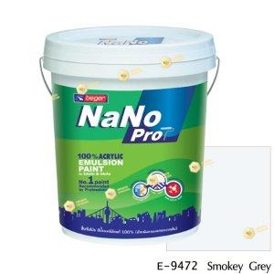นาโนโปร สีน้ำอะคริลิก E-9472 สีน้ำด้านภายนอก-5gl