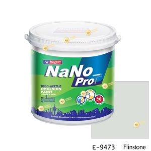 นาโนโปร สีน้ำอะคริลิก E-9473 สีน้ำด้านภายนอก-1gl