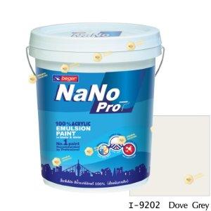 นาโนโปร สีน้ำอะคริลิก I-9202 สีน้ำด้านภายใน-5gl