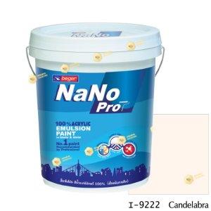 นาโนโปร สีน้ำอะคริลิก I-9222 สีน้ำด้านภายใน-5gl