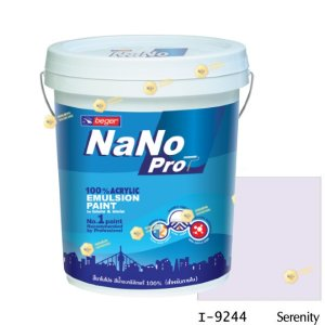 นาโนโปร สีน้ำอะคริลิก I-9244 สีน้ำด้านภายใน-5gl