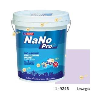 นาโนโปร สีน้ำอะคริลิก I-9246 สีน้ำด้านภายใน-5gl