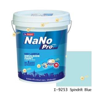 นาโนโปร สีน้ำอะคริลิก I-9253 สีน้ำด้านภายใน-5gl