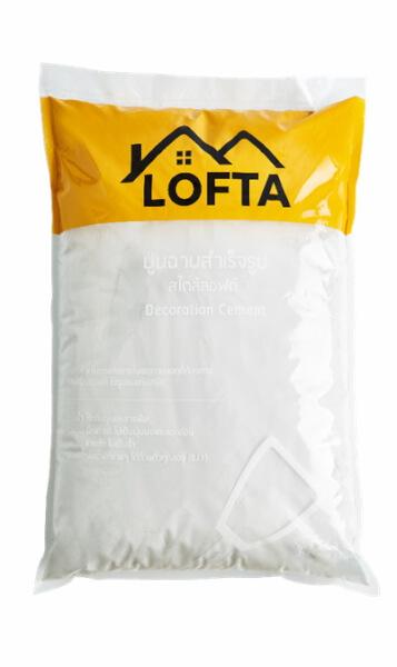 LOFTA ปูนตกแต่งขัดมันสำเร็จรูป สูตรน้ำ สีขาวควันบุหรี่ 7กก.
