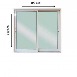 หน้าต่างอลูมิเนียมสำเร็จรูป weikaเวก้า 100x110 cm.