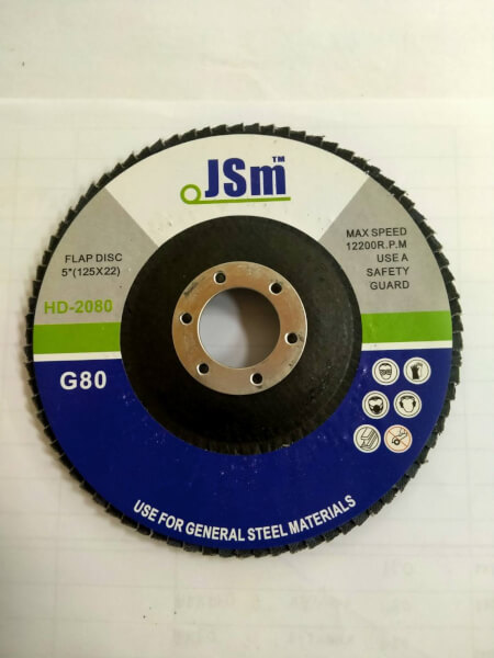 JSM XA911 จานทรายซ้อน 4 (100x16mm) (หลังแข็ง) (10แผ่น/กล่อง)