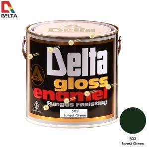 สีเคลือบน้ำมัน DELAT GLOSS ENAMEL #503 Forest Green-1GL.