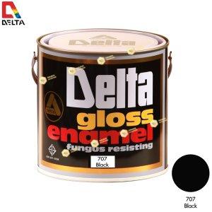 สีเคลือบน้ำมัน DELAT GLOSS ENAMEL #707 Black-1GL.
