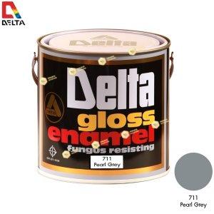 สีเคลือบน้ำมัน DELAT GLOSS ENAMEL #711 Pearl Grey-1GL.