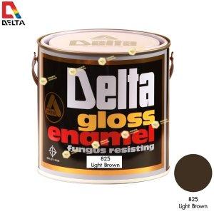 สีเคลือบน้ำมัน DELAT GLOSS ENAMEL #825 Light Brown-1GL.