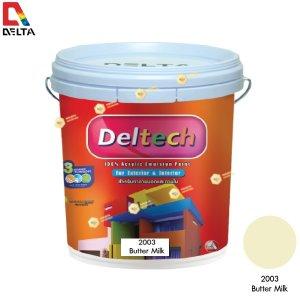 DELTECH สีน้ำอะครีลิคแท้ภายนอก#2003 Butter Milk-5GL.