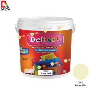 DELTECH สีน้ำอะครีลิคแท้ภายนอก#2003 Butter Milk-1GL.
