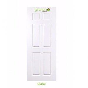 ประตู Upvc กรีนพลาสวู๊ด รุ่น GU203 สีขาว