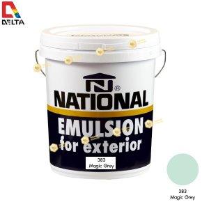 สีน้ำอะครีลิคภายนอก NATIONAL #383 Magic Grey-5GL.