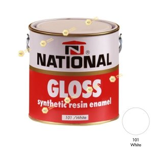 สีเคลือบน้ำมัน NATIONAL GLOSS #101 White-1GL.