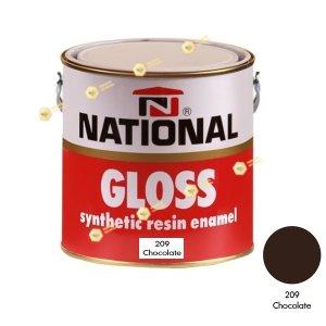 สีเคลือบน้ำมัน NATIONAL GLOSS #209 Chocolate-1GL.