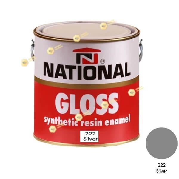 สีเคลือบน้ำมัน NATIONAL GLOSS #222 Silver-1GL.