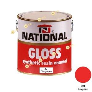 สีเคลือบน้ำมัน NATIONAL GLOSS #401 Tangerine-1GL.