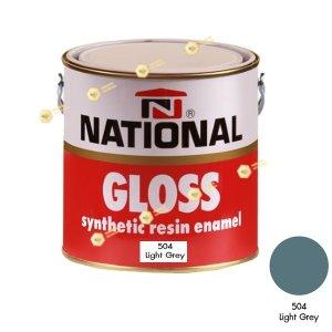 สีเคลือบน้ำมัน NATIONAL GLOSS #504 Light Grey-1GL.