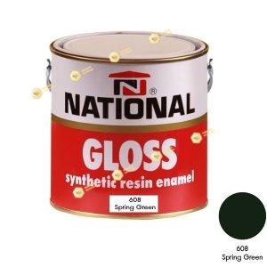 สีเคลือบน้ำมัน NATIONAL GLOSS #608 Spring Green-1GL.