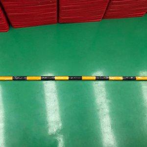 ไม้กั้นจราจร สีเหลืองดำ 1.5 เมตร ยืดหดไม่ได้