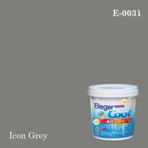 เบเยอร์คูล ออลพลัสสีน้ำอะครีลิก-ภายนอก E-0031 (Icon Grey)