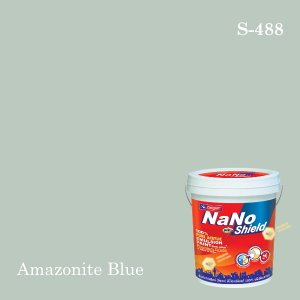 นาโนโปร ชิลด์สีน้ำอะคริลิก ชนิดเนียน S-488 (Amazonite Blue)