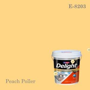 ดีไลท์สีน้ำอะครีลิก ภายนอก E-8203 (Peach Poller)